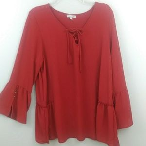 NWOT Nicola E.C size XL, fit and flare, red top